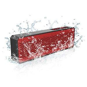 Trendwoo Bluetooth Speaker Ultra Slim Portable with Dual-Driver Stereo Waterproof