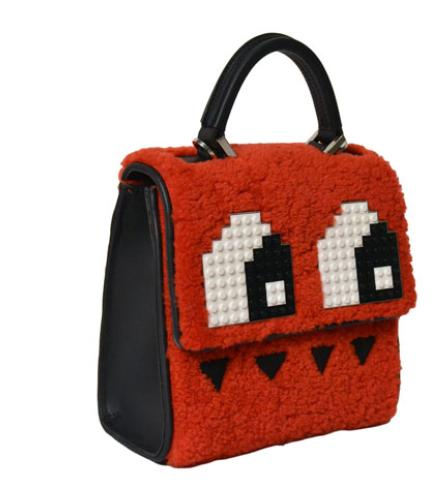 Les Petits Joueurs  Mini Alex Eyes Shoulder Bag, Red Merino/Black @ Bergdorf Goodman