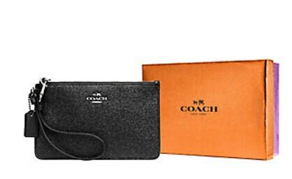 25% Off + Extra 25% Off COACH  Leather Corner Zip Wristlet @ Lord & Taylor