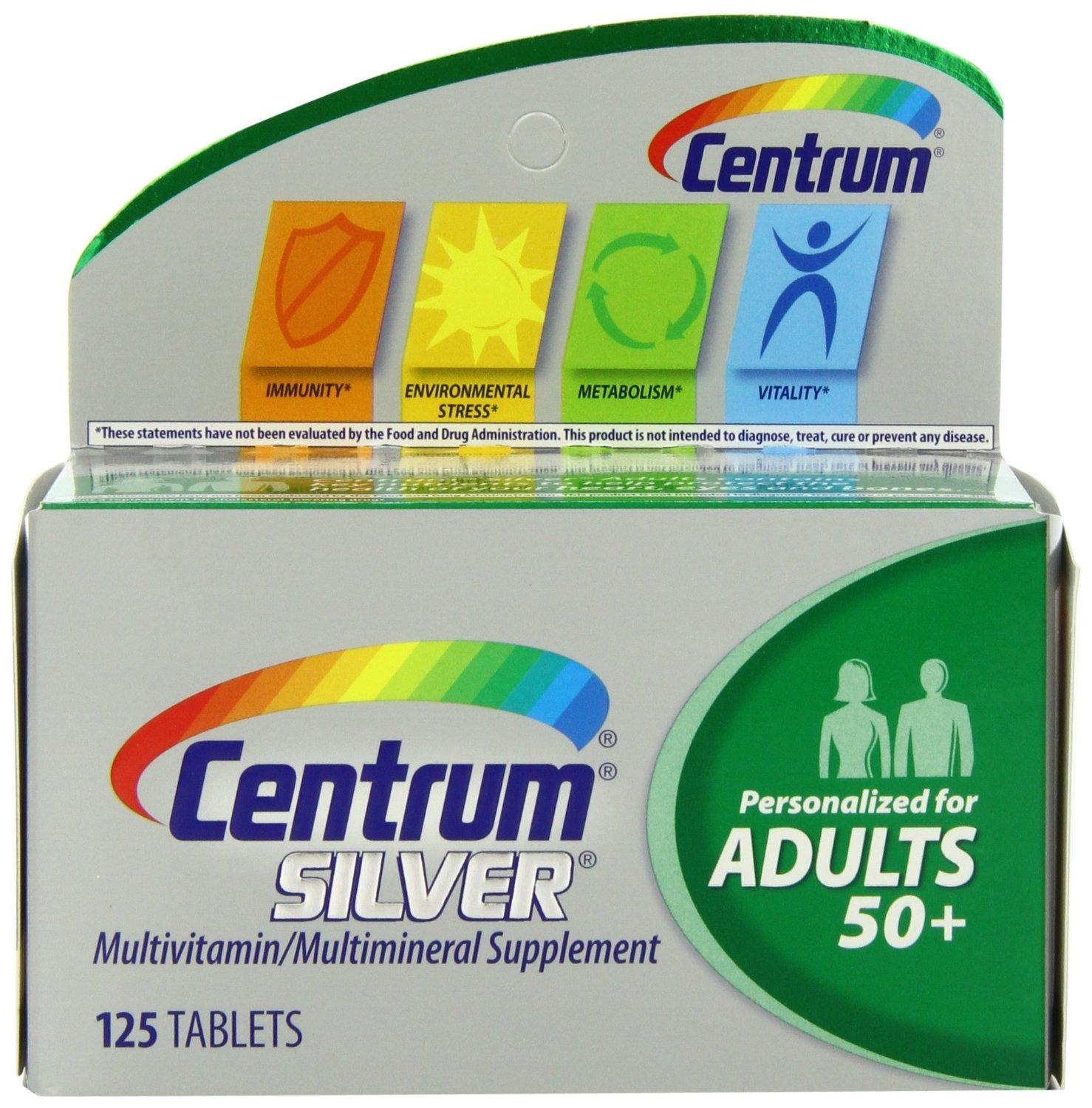 Centrum Silver Multivitamin Supplement, Adult, 125 Count