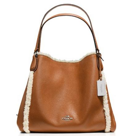 COACH Edie Shoulder Bag 31 with Shearling Trim
