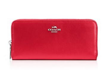 COACH Slim Accordion Zip Wallet in Smooth Leather(5 colors)