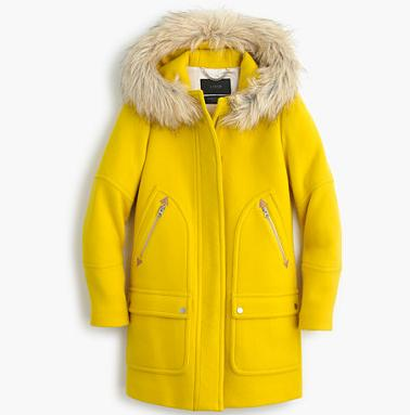 PETITE CHATEAU PARKA IN STADIUM-CLOTH On Sale @ J.Crew