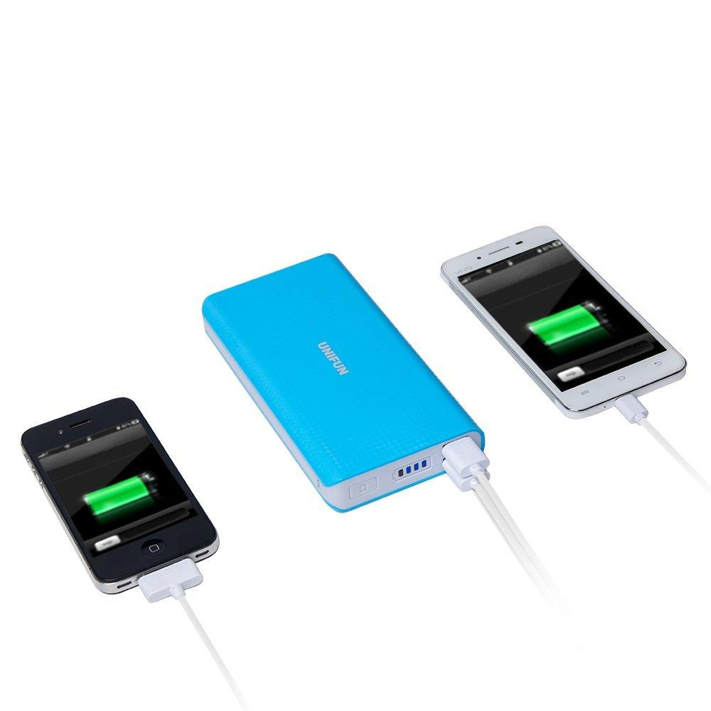 Unifun 20000mah Dual USB External Battery Portable Power Bank