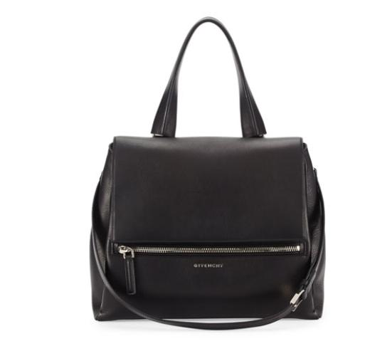 Givenchy  Pandora Medium Waxy Calf Bag, Black @ Bergdorf Goodman