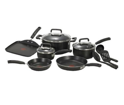 Lowest price! T-fal C111SC Signature Nonstick Thermo-Spot Heat Indicator Cookware Set, 12-Piece, Black