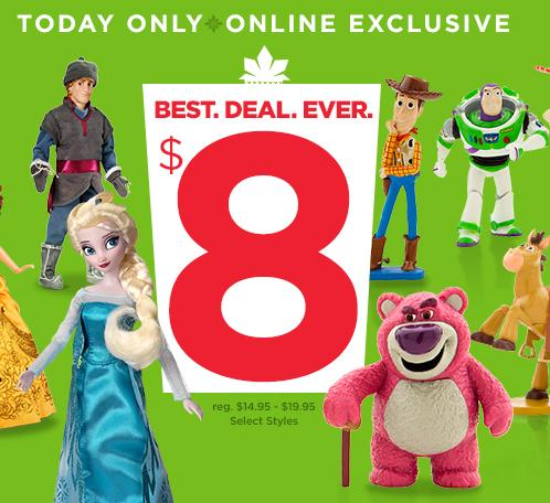 $8 Classic Dolls, Figure Play Sets & More @ Disney Store