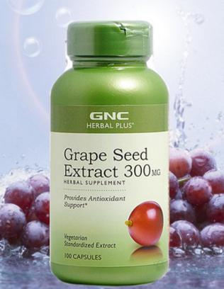 GNC Herbal Plus Grape Seed Extract 300mg 100 Capsules