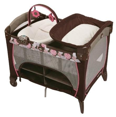 Graco Pack 'n Play Playard with Newborn Napper Station DLX, Chelle @ Amazon