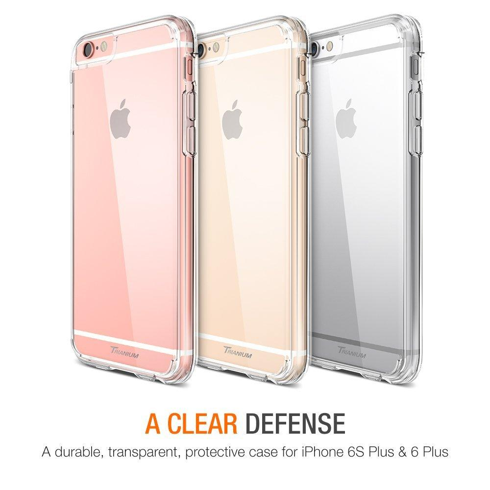 $4.50 Trianium iPhone 6 Plus Clear Case Bumper
