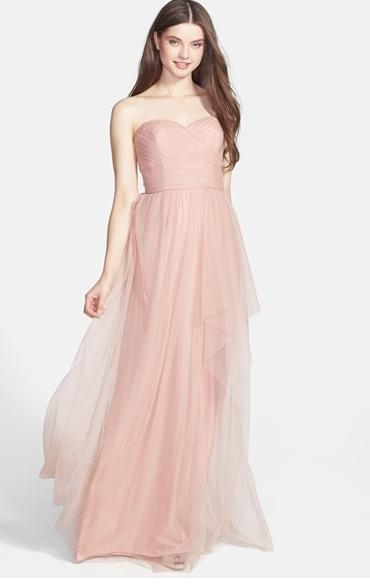 Amsale Draped Tulle Gown @ Nordstrom