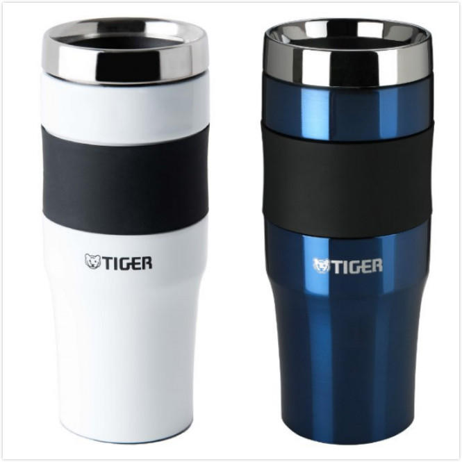 Tiger Corporation Stainless Steel Travel Mug, 16 oz, Blue/white