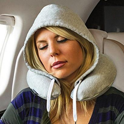 HoodiePillow Brand (Inflatable) Travel Hoodie Pillow