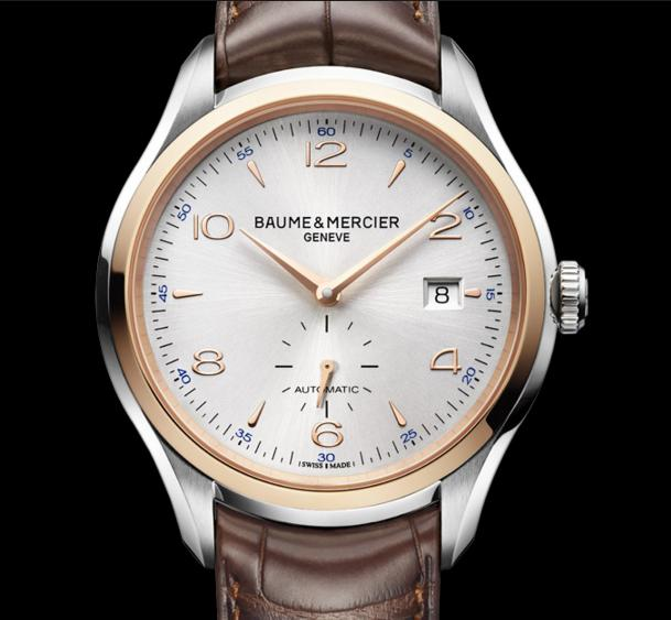 BAUME ET MERCIER Clifton Automatic Silver Dial Brown Leather Men's Watch