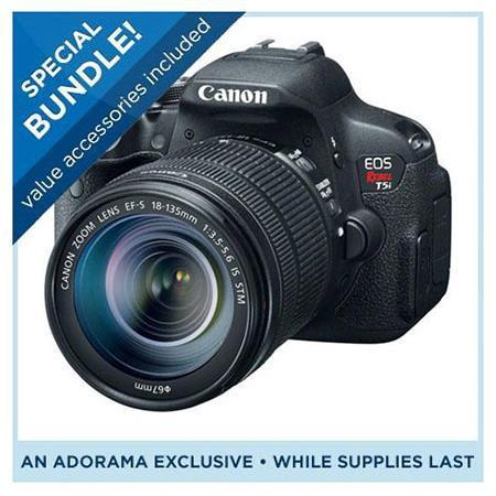 Canon T5i Camera w/18-135mm Lens - Special Promotional Bundle