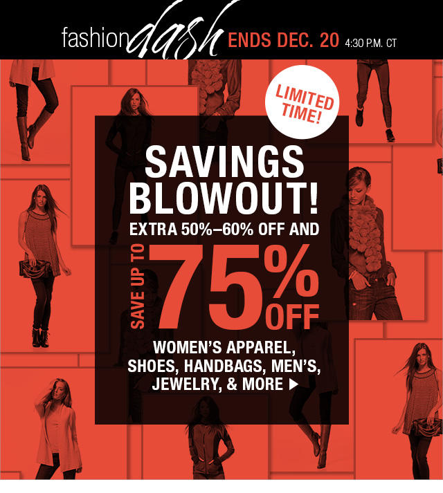 Up to Extra 60% Off Savings Blowout in Fashion Dash at LastCall by Neiman Marcus