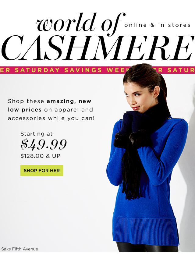 From $49.98 Cashmere On Sale @ Saks Off 5th