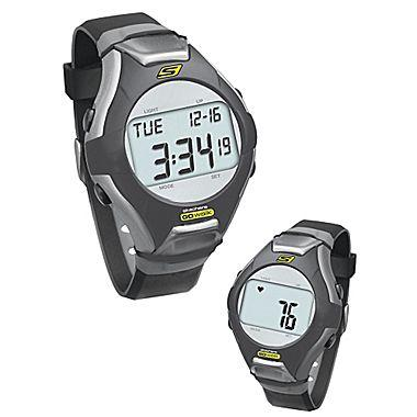 Skechers GoWalk Heart Rate Monitor Watch, Black