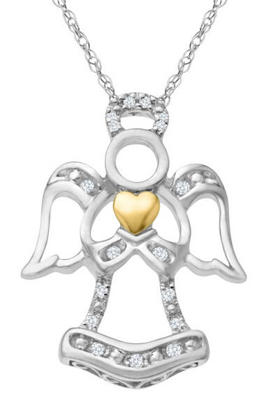Angel Pendant with Diamonds