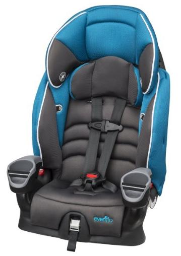 Evenflo Maestro Booster Car Seat, Thunder