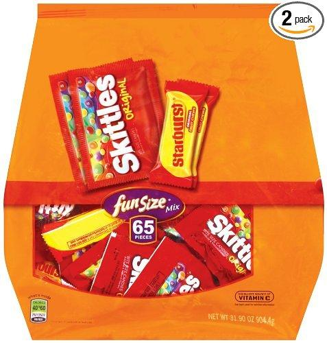 $5.23 Skittles/Starburst Original Fun Size, 31.9-Ounce Stand Up Bags (Pack of 2)