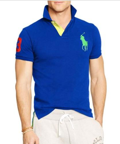 Polo Ralph Lauren NEW Custom Fit Big Pony Polo Cotton Short Sleeve Shirt
