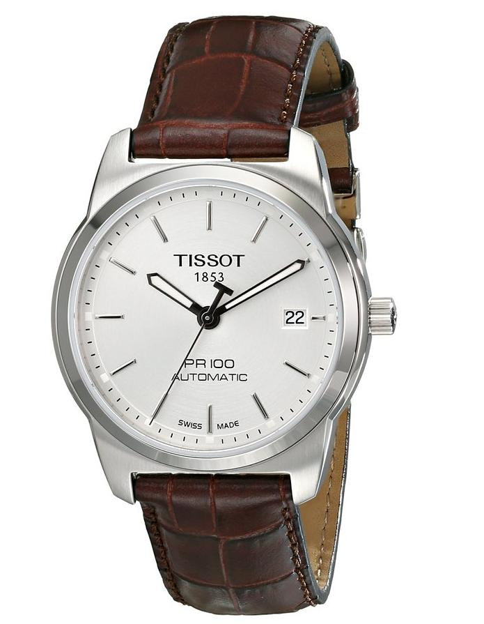 Tissot Men's T0494071603100 PR 100 Silver Automatic Dial Watch