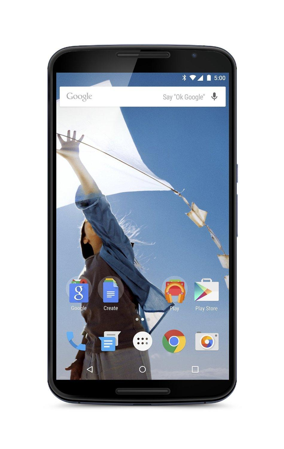 Google Motorola Nexus 6 Unlocked Cellphone, 64GB, Midnight Blue