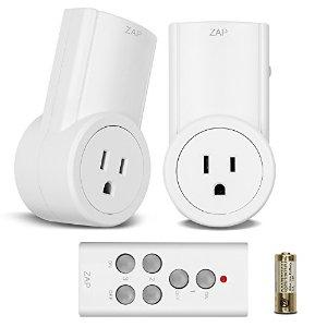 Etekcity Wireless Remote Control Electrical Outlet Switch for Household Appliances (Learning Code, 2Rx-1Tx)