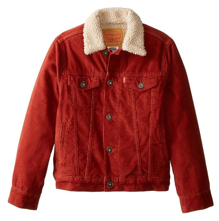 Levi's Big Boys' Sherpa Jacket Burnt Henna