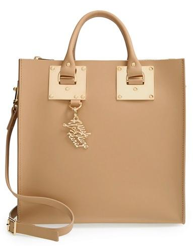 Sophie Hulme 'Large' Leather Square Tote On Sale @ Nordstrom