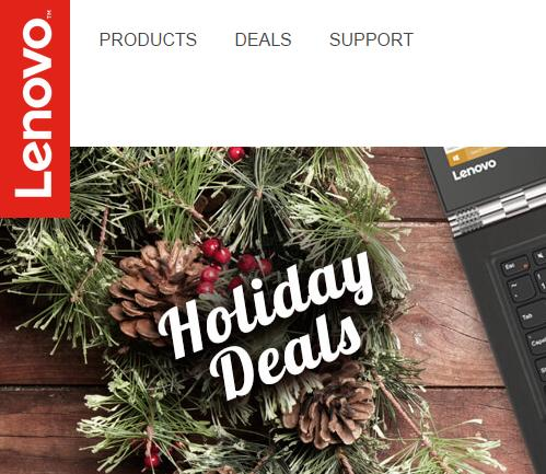 Save up to 45% Lenovo Last Minute Holiday Deals