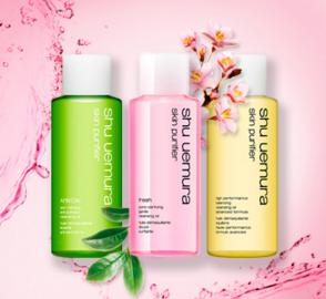 3 Free Cleansing Oils + Free Shipping on $50 Orders at Shu Uemura