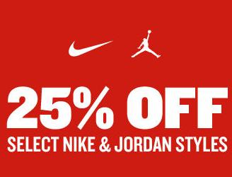 25% Off Select Nike & Jordan Styles at FinishLine