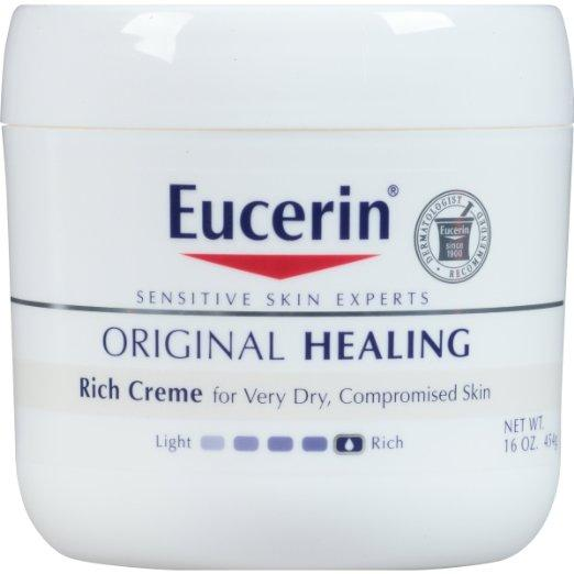 Eucerin Original Healing Soothing Repair Creme, 16 Ounce (Pack of 2)