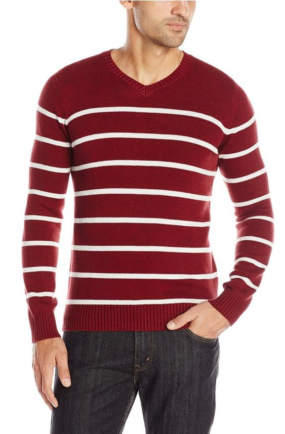 Levi's Men's Winger Striped V Neck Sweater