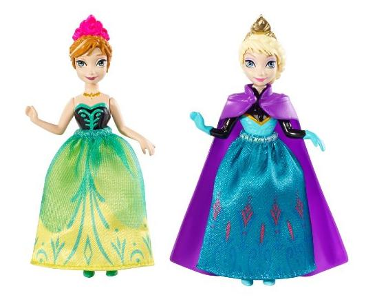 Disney Frozen Princess Sisters Celebration Anna and Elsa Small Doll, 2-Pack