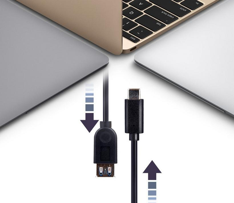 DBPOWER Micro USB 3.1 Type-C male to USB 3.0 Type-A femal Data Cable