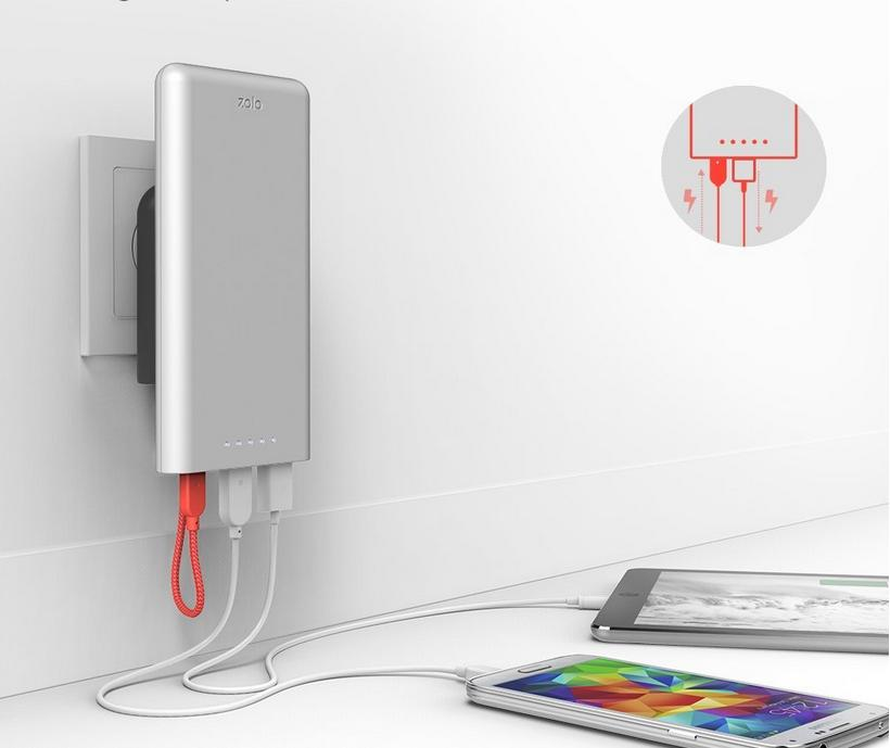 Anker Magic Magnetic Zolo 12000mAh Portable Power Bank with Short Magnetic Cable / Clips