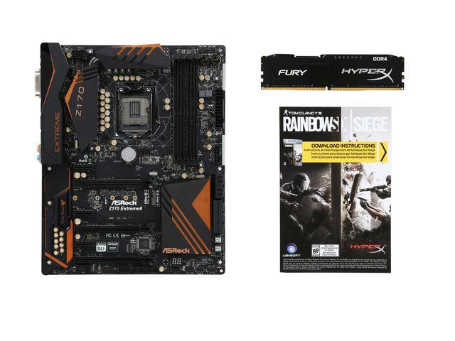 ASRock Z170 Extreme 6 Intel Z170, HyperX FURY 8GB DDR4 2133 MEMORY, UBISOFT - Rainbow Six Seige for PC