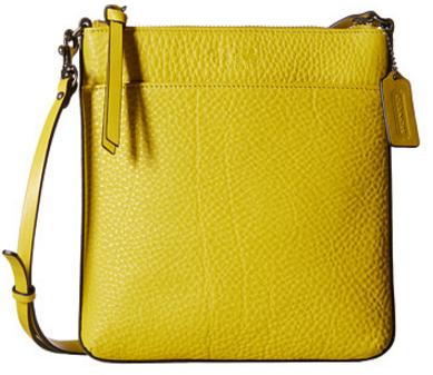 COACH Bleecker Pebbled Leather North/South Swingpack On Sale @ 6PM.com