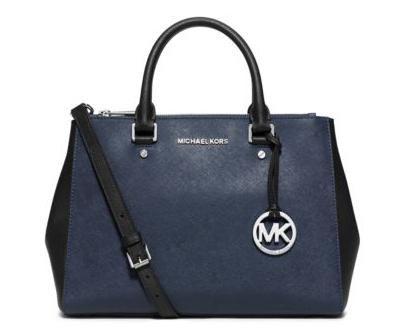MICHAEL MICHAEL KORS Sutton Medium Two-Tone Leather Satchel