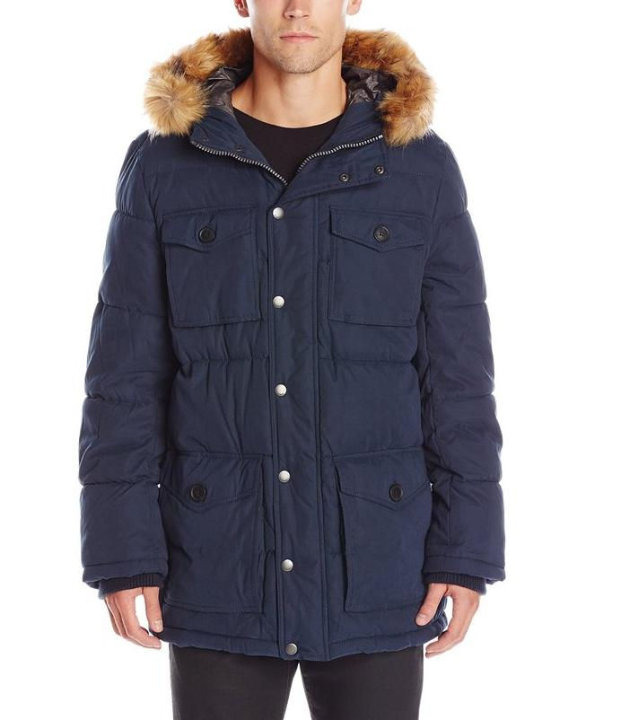 Tommy Hilfiger Men's Micro Twill Full-Length Hooded Parka Coat @ Amazon