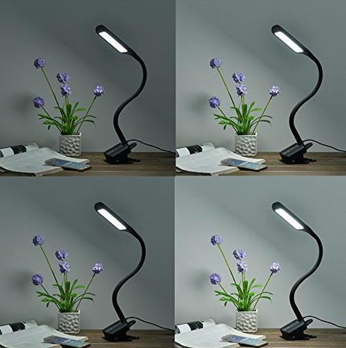ANNT® 10W Clamp Dimmable Eye-care LED Desk Lamp with 1.5a USB Charging Port, Matte Black