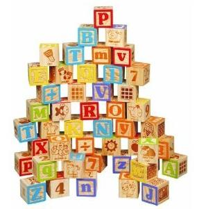 Maxim 45mm Wooden ABC Blocks, 40 Pieces @ Amazon