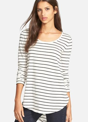 BP. Stripe High/Low Tee @ Nordstrom