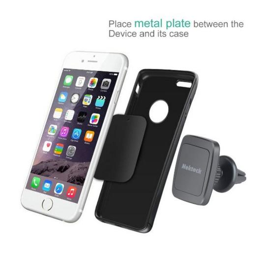 $11.99 Car Mount, Nekteck Magnetic Cradle-less Universal Car Phone Air vent Mount Holder
