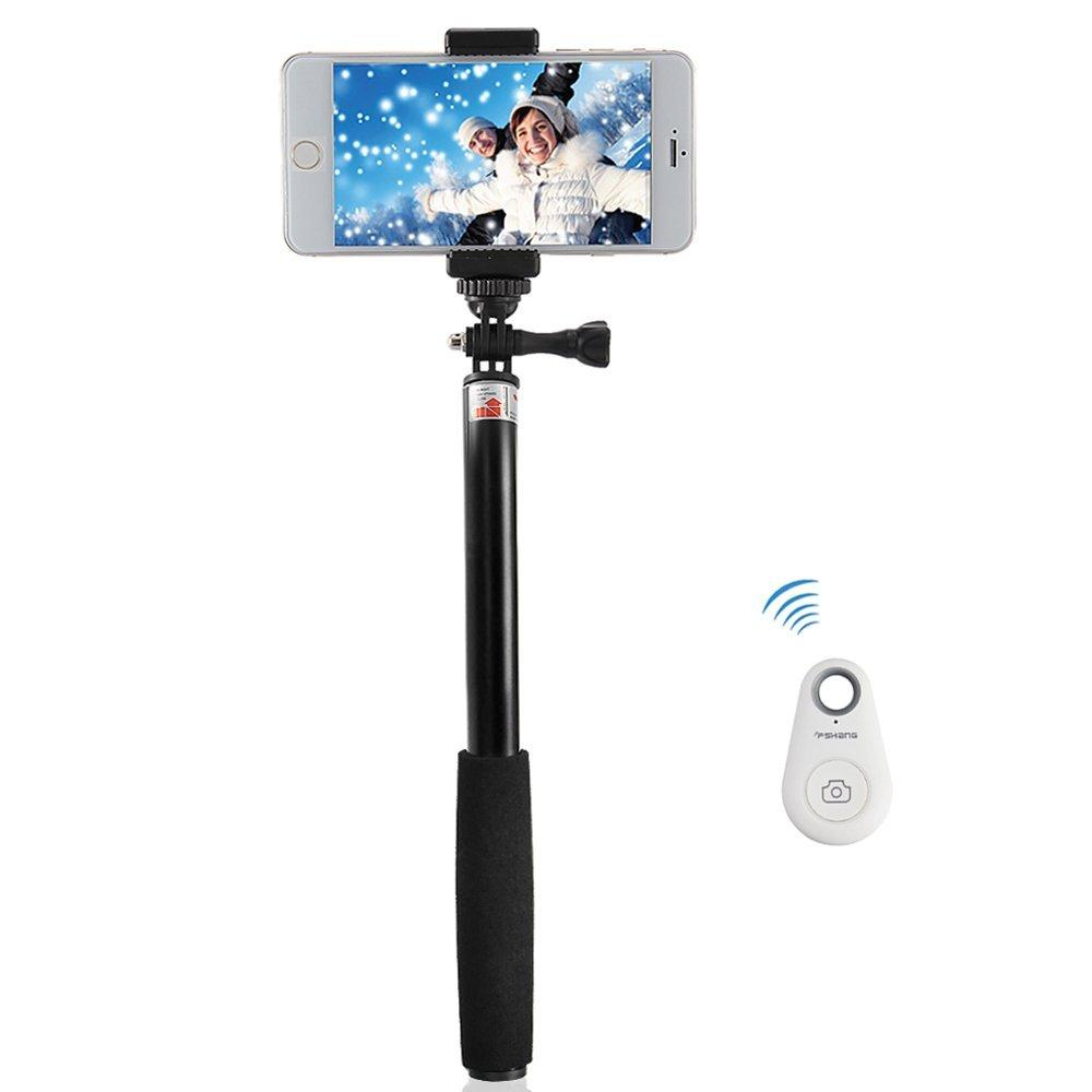 FShang Telescopic Selfie Stick with Bluetooth Remote Shutter for SmartPhones