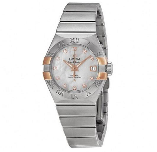 OMEGA Constellation Co-Axial Mother of Pearl Dial Stainless Steel Ladies Watch