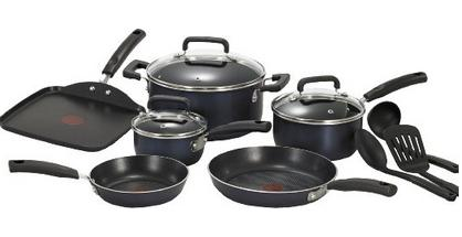 $57.57 T-fal C109SC Signature Nonstick Expert Thermo-Spot Heat Indicator Cookware Set, 12-Piece